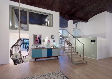 Loft La Manufacture - pièce principale, pièce à vivre, escalier