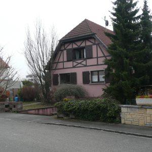 Rénovation et extension - façade avant, avant rénovation