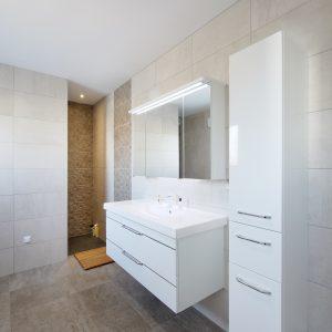 Construction quatre pans et monopente - salle de bain