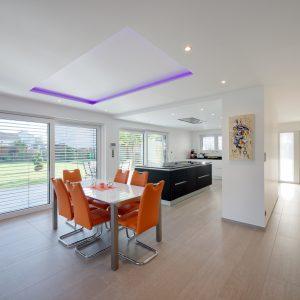 Construction à toit plat - cuisine et salle à manger