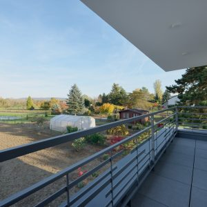 Construction à toit plat - balcon