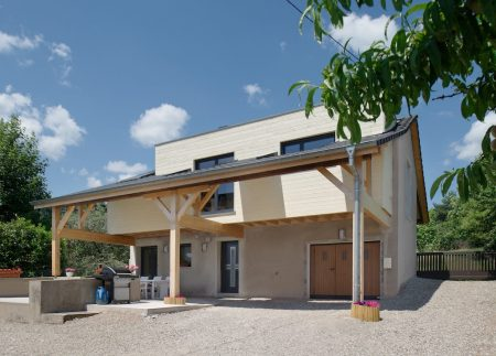 Réhabilitation d'une grange - façade avant