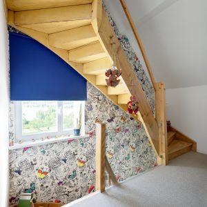 Rénovation à toiture deux pans - escalier